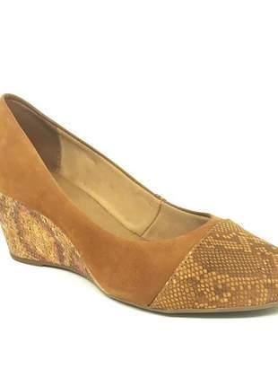 Sapato Anabela Bottero Nobuck Conhaque 253204