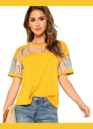 Camiseta bordada tamanho m