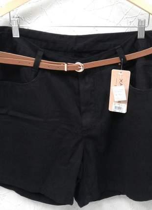Shorts plus size alfaiataria