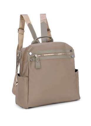 Bolsa feminina casual vários bolsos estilo mochila - luxcel