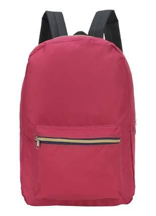 Mochila escolar casual unissex bolso frontal 25l - luxcel
