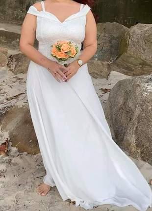 Vestido noiva ciganinha