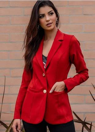 Blazer feminino vermelho