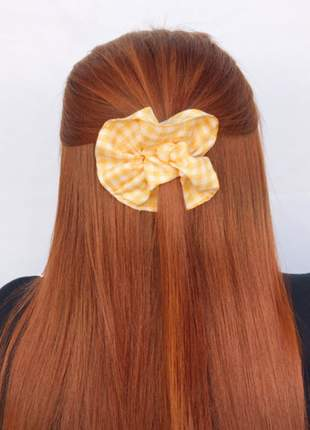 Scrunchies xadrez amarela