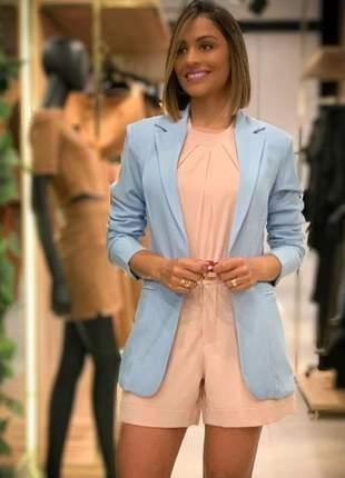 Blazer feminino azul claro