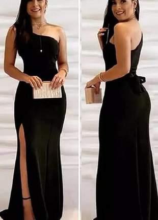 Vestido longo de festa, casamento, madrinha modelo um ombro