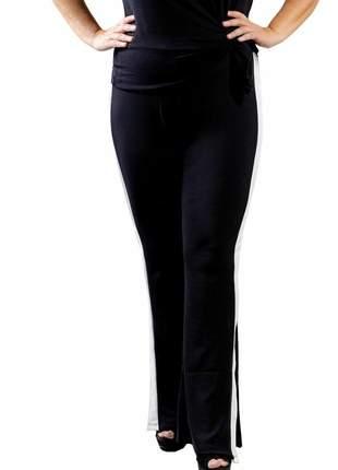 Calça feminina plus size flare cintura alta levanta bumbum