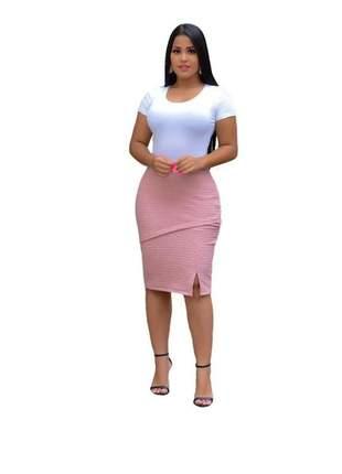 Saia cirre moda feminina evangélica ou social com detalhes