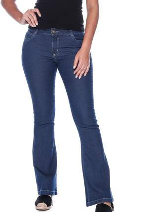 Calça jeans feminina cintura alta skinny slim levanta bumbum lycra e elastano azul