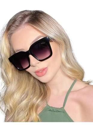Óculos de sol feminino quadrado luxo