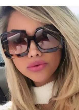 Oculos de sol tartaruga tamanho grande luxo