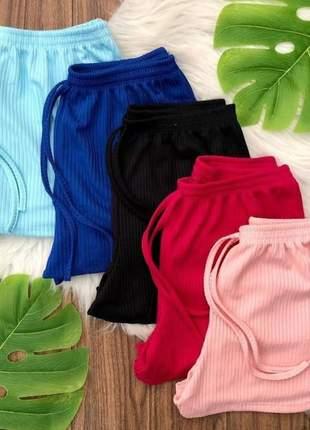Shorts bermudinha canelado promoção