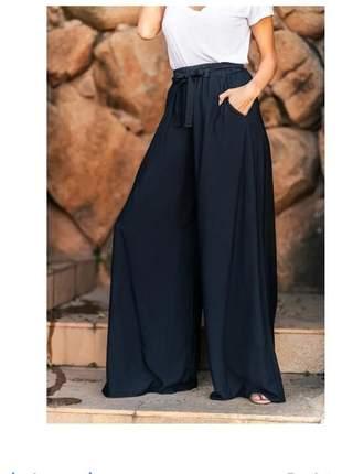 Calça pantalona feminina cintura alta roupa linda
