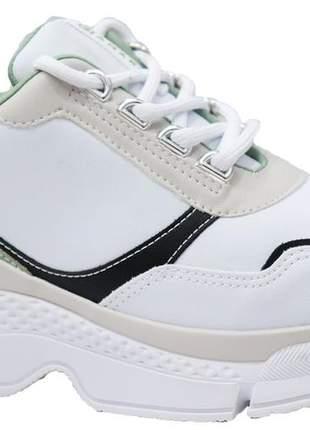 Tênis feminino branco verde ramarim 2079201v