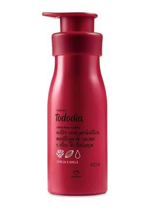 Creme desodorante nutritivo para o corpo cereja e avelã natura 400 ml