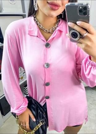 Camisa social manga longa com botões