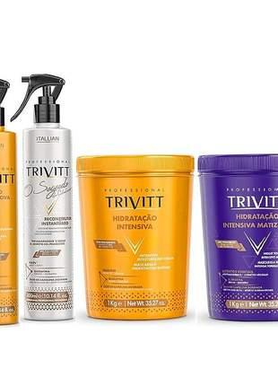 Kit trivitt profissional + hidratação trivitt matizante (4 itens)
