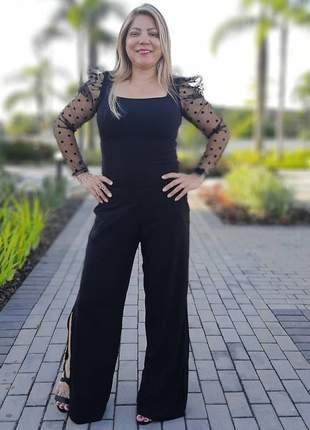 Calca preta pantalona
