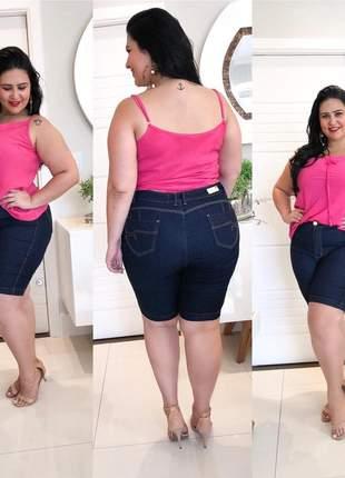 Bermuda jeans plus size amaciada
