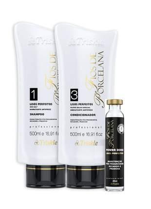 Kit lisos perfeitos shampoo e condicionador triskle