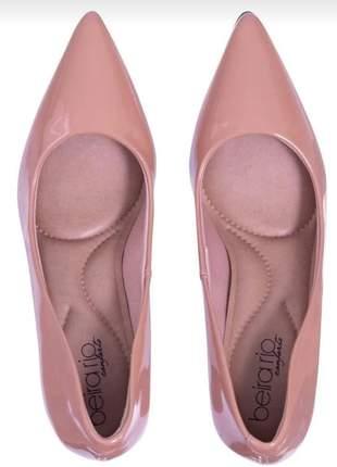 Sapato feminino verniz beira rio nude