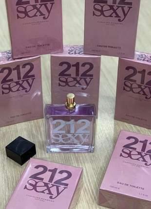 Perfume importado 212 sexy carolina herrera eau de parfum - 50ml