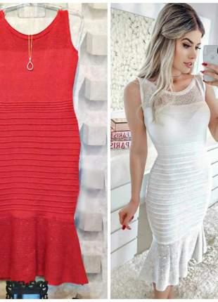 Vestido midi vermelho. tamanho único