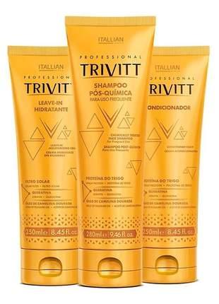 Kit trivitt manutenção home care c/ leave-in hidratante (3 itens)