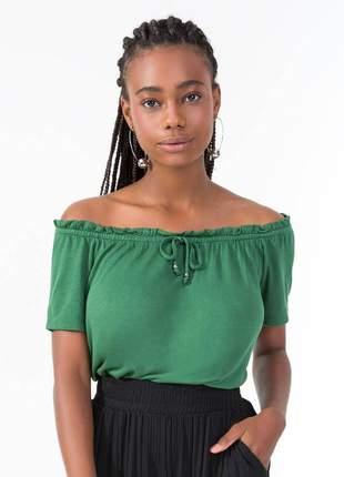 Blusa ciganinha feminina verde 6155225736