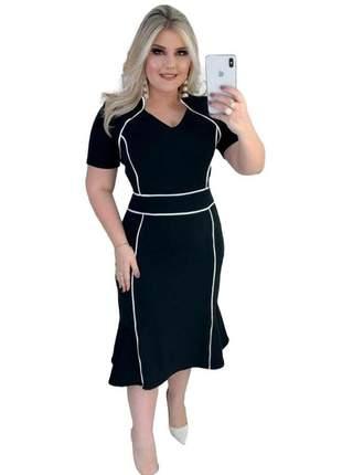 Vestido moda evangelica midi lançamento