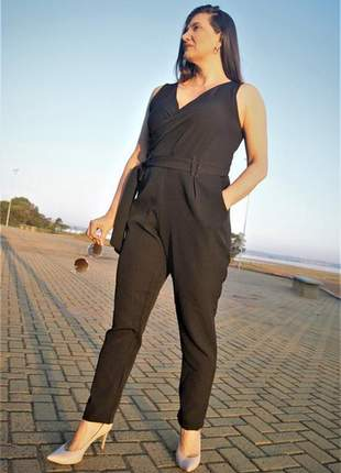 Macacão longo preto