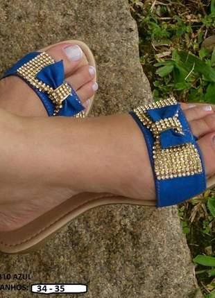 Kit 2 pares rasteira chinelo rasteirinha feminina promoção 33 ao 36