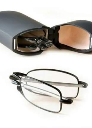 Óculos dobrável e retrátil para leitura 2,25 até 4,00 perto