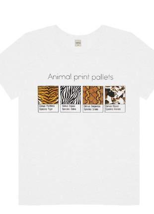 T-shirt branca animal print feminina 6154255000