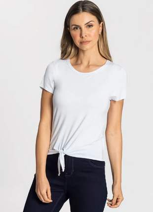Blusa manga curta amarração branca feminina 915205000