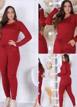 Conjunto lazinha calça e blusa moda blogueira cod.w