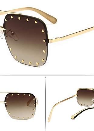 9c2ae2391 Óculos de sol feminino quadrado luxo - R$ 85.00 (com proteção UV ...