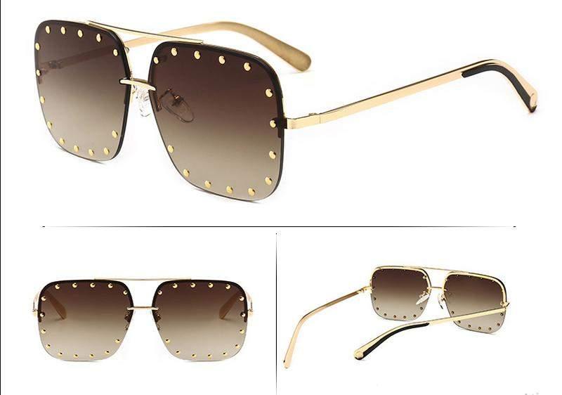 9cebaad5d Óculos de sol feminino quadrado luxo - R$ 85.00 (com proteção UV ...