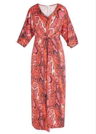 Vestido longo plus size kaftan kimono vestido de mangas