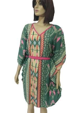 Vestido kafta indiano curto - túnica indiana bata longa g/gg