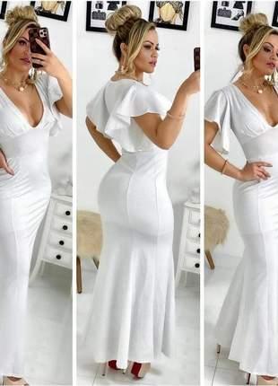 Vestido branco de noiva casamento civil cartório batizado
