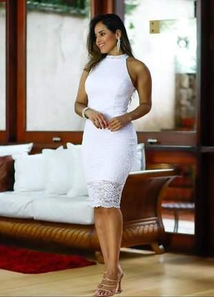 Vestido midi noiva civil