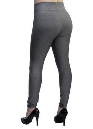 Calça legging modeladora com cintura alta cinza