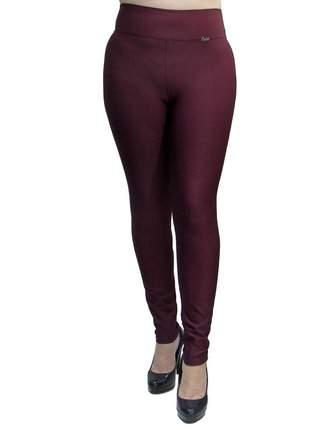 Calça legging modeladora com cintura alta bordô