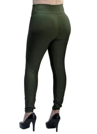 Calça legging modeladora com cintura alta verde militar