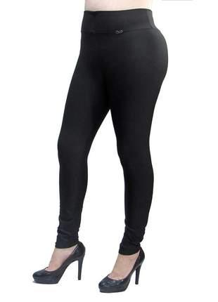 Calça legging modeladora com cintura alta preta