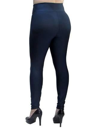 Calça legging modeladora com cintura alta azul marinho