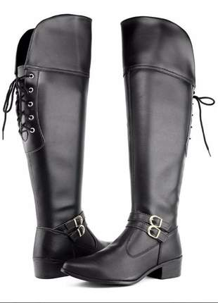 Over the knee - bota feminina - montaria alta - inverno - coturno feminino