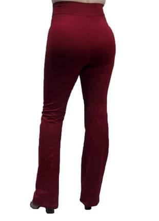 Calça flare bailarina modeladora com cintura alta bordô