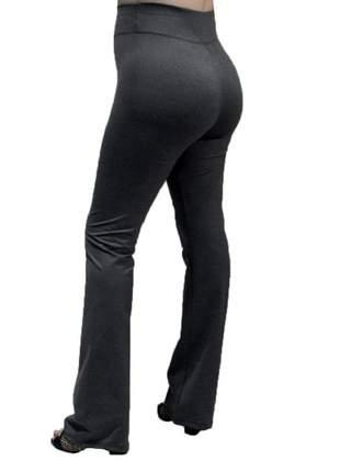 Calça flare bailarina modeladora com cintura alta cinza